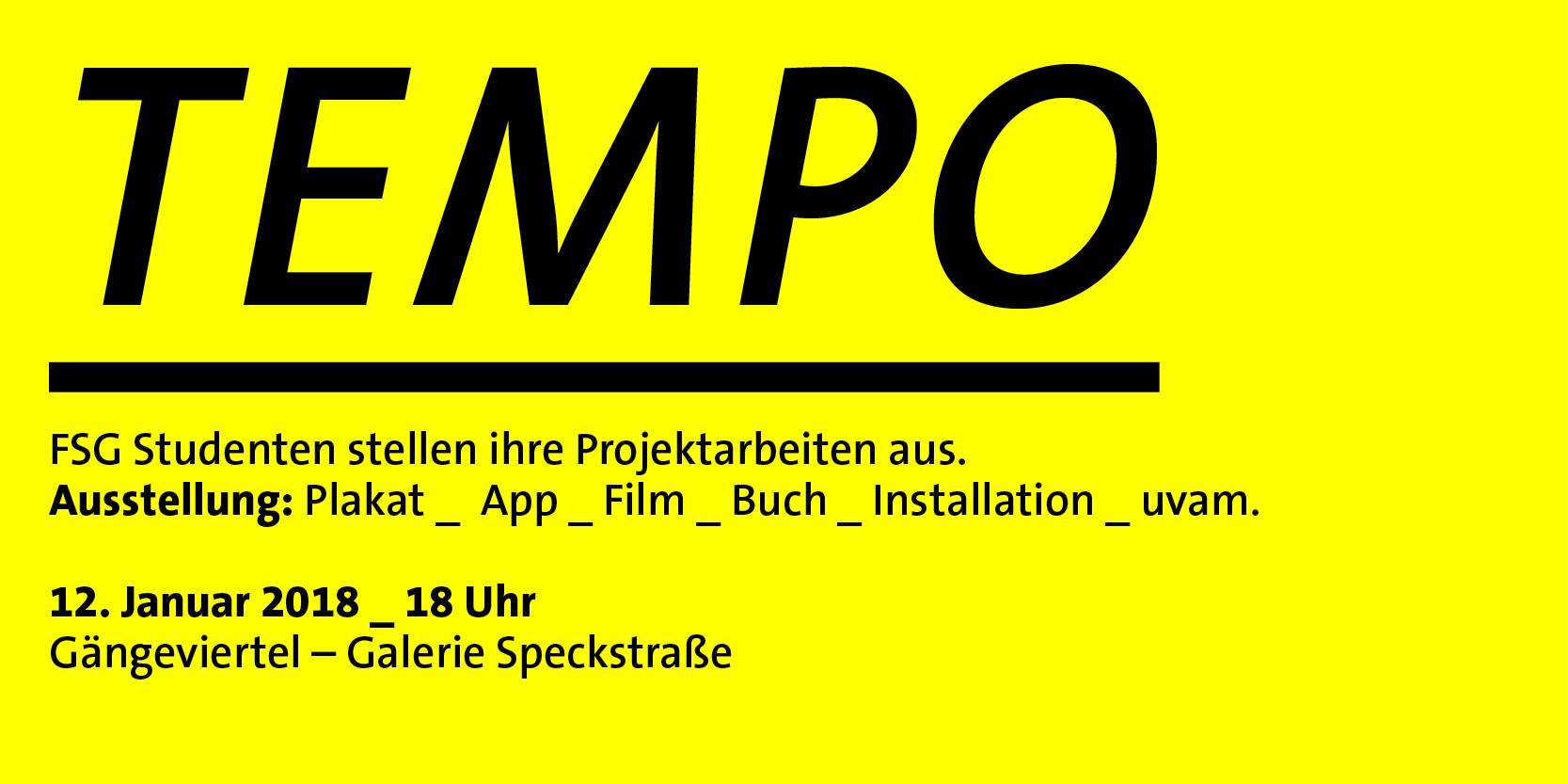 Die Ausstellung TEMPO zeigt Werke aus Illustration, Plakat, App, Film und vielem mehr!