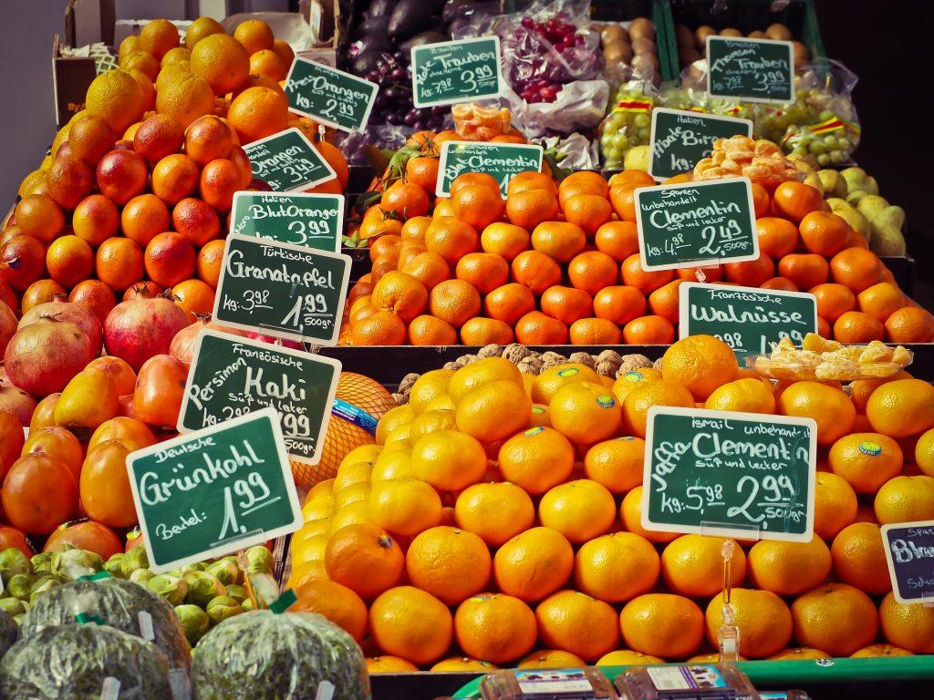 Auf dem Isemarkt kannst du frische und leckere Lebensmittel shoppen!