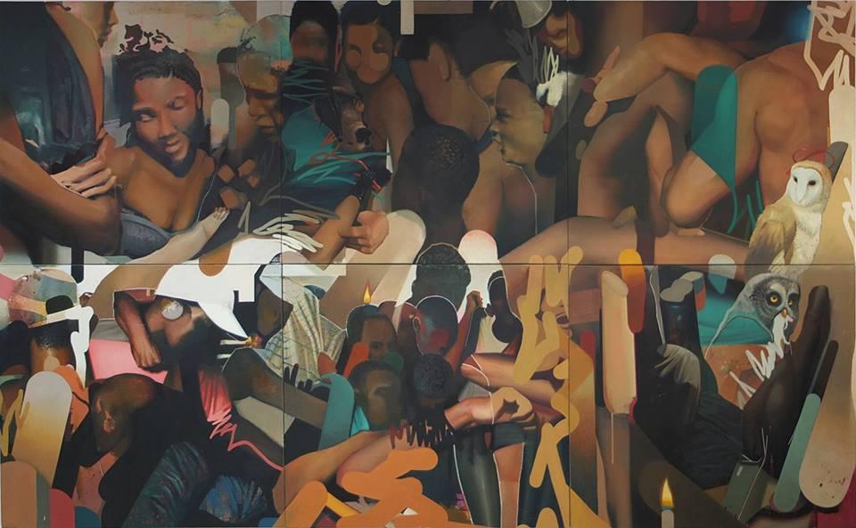"""Die Ausstellung """"Rising"""" zeigt Werke, die mit Licht und Schatten spielen."""