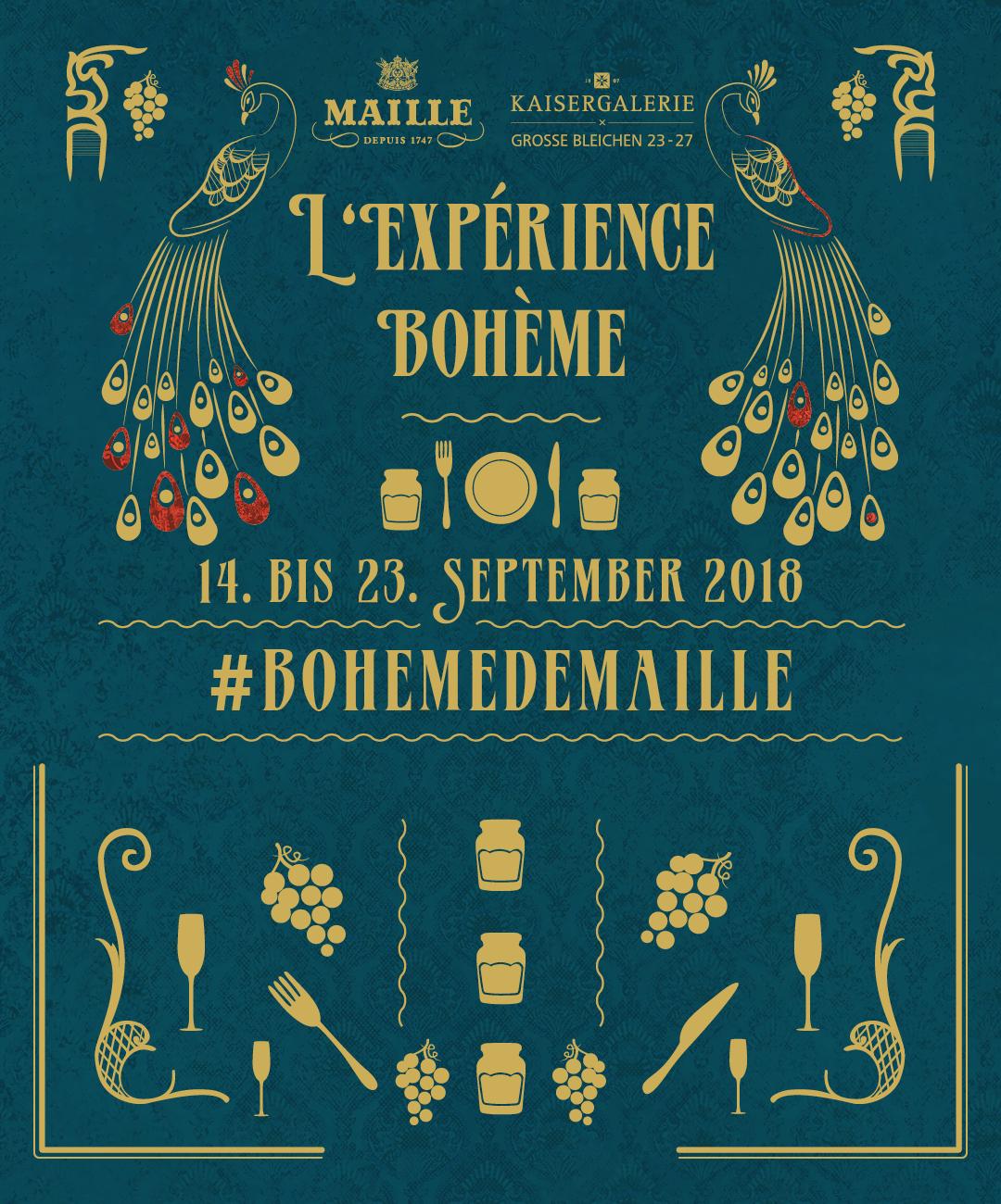 Bei l'expérience bohème gehts zusammen mit Maille auf eine kulinarische Reise!