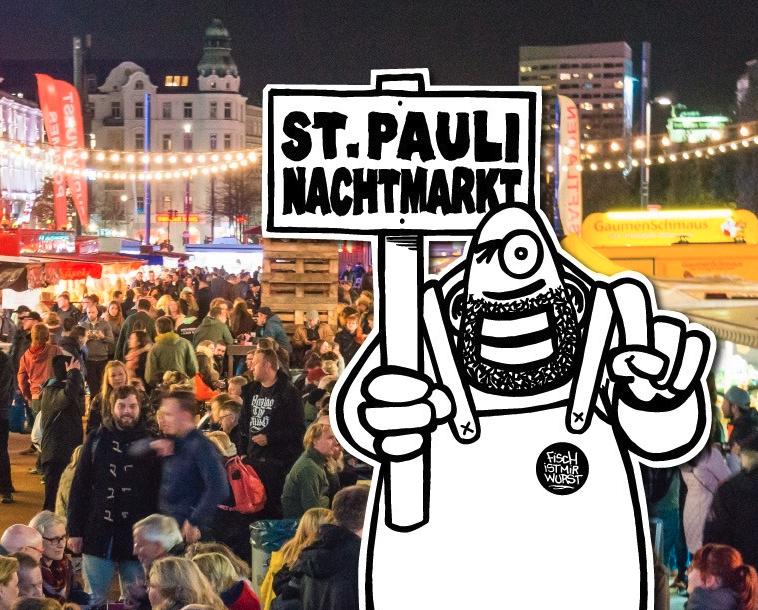 Es ist Zeit für einen Bummel über den St. Pauli Nachtmarkt.