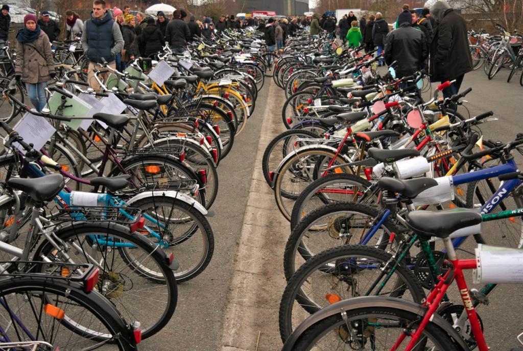 Beim Fahrradmarkt kannst du dir einen neuen Drahtesel zulegen.