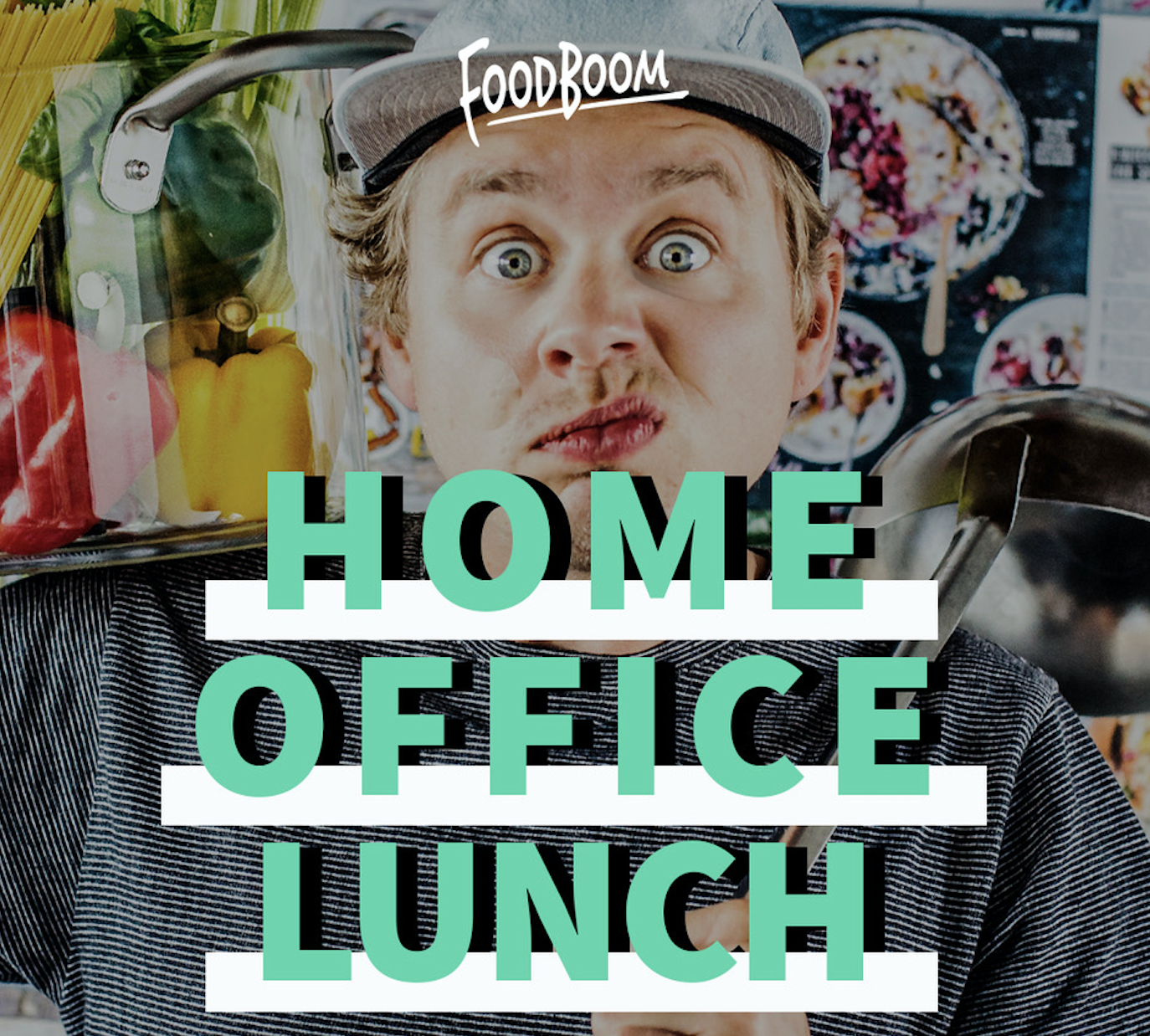 Mache mit beim Homeoffice-Lunch & koche mit FOODBOOM.