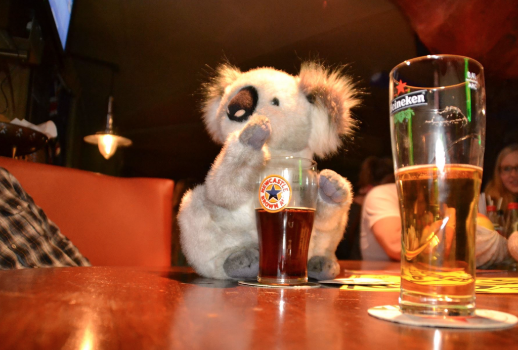 Was machen wir montags? Na klar, Down Under Pub Quiz!