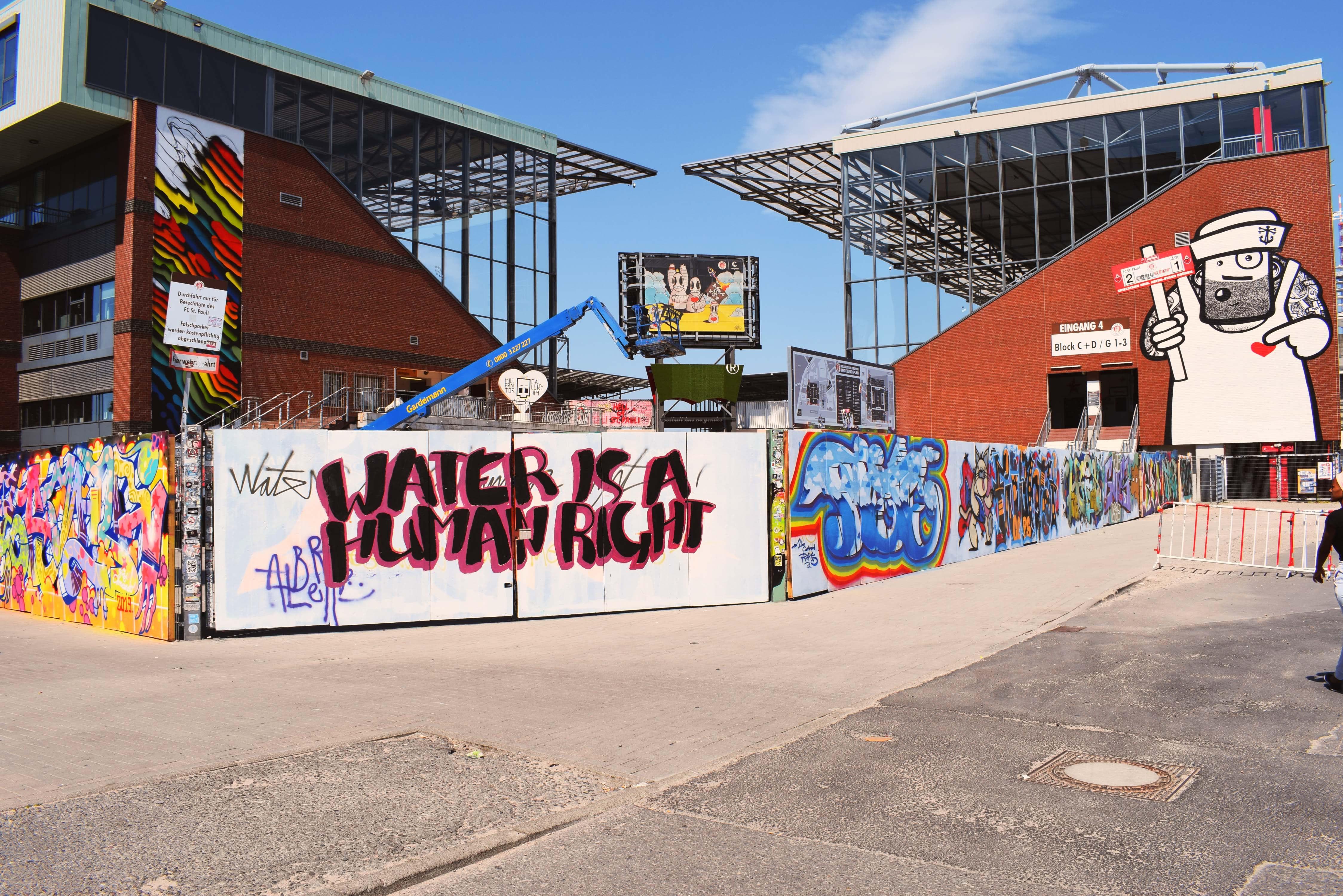 Viva con agua und das Millerntor-Stadion freuen sich über kreative Köpfe!
