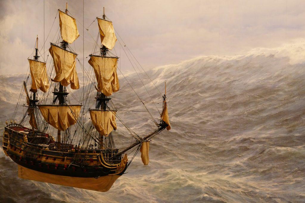 """Kultur zu Hause: Sei bei der Online-Führung """"Das Zeitalter der Segelschiffe"""" dabei."""