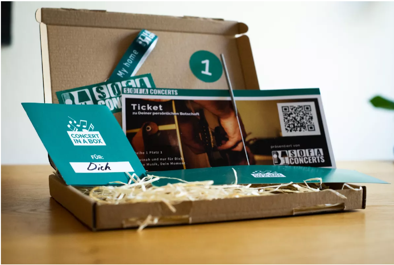 """🎉 Wir verlosen 2 x 1 Concert in a Box zum Verschenken von """"SofaConcerts""""!"""