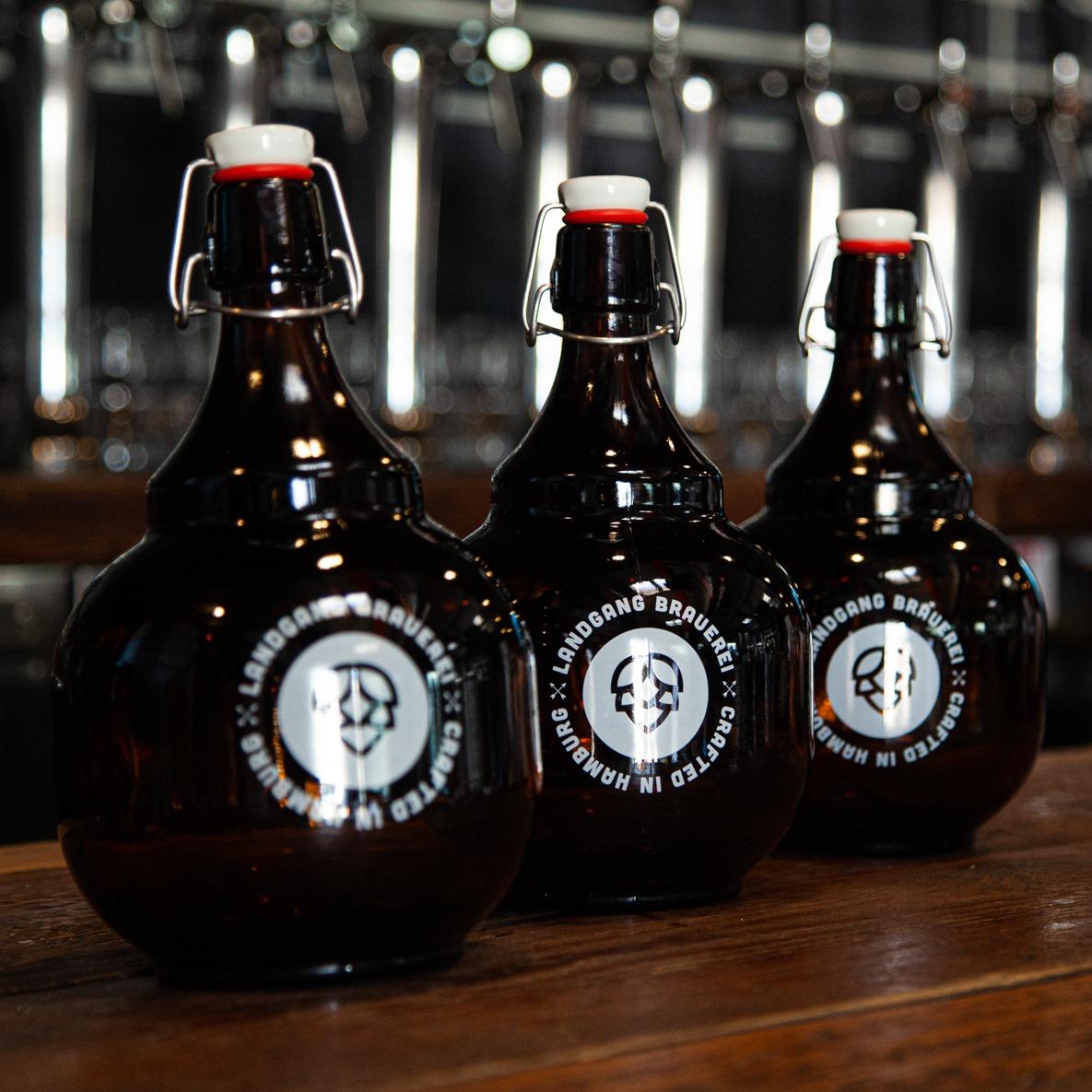 Bier en masse: Die Landgang Brauerei füllt deinen Growler.