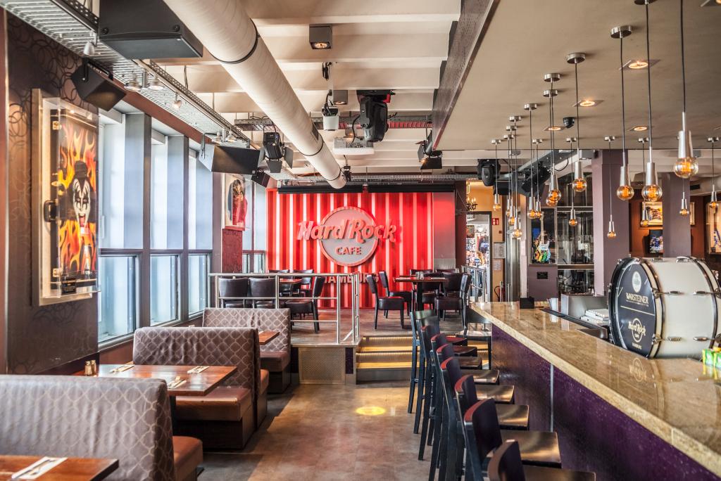 Das Hard Rock Cafe ist Hamburgs schönster Spot für die Übertragung der Fußball-EM