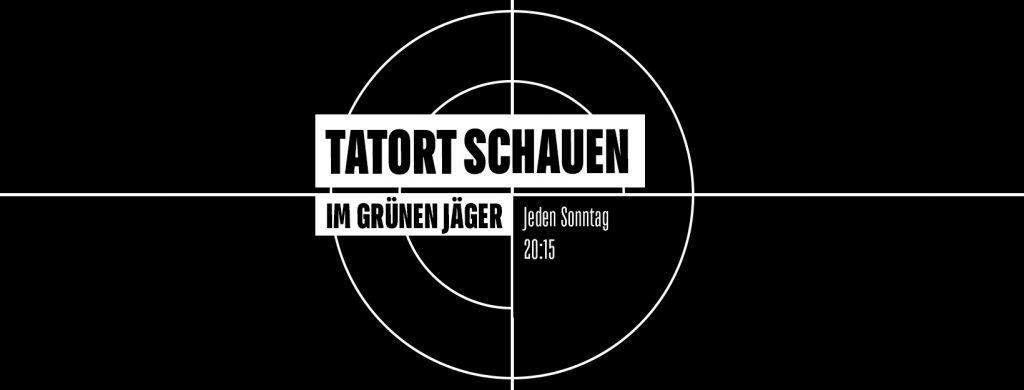 Unter freiem Himmel Tatort schauen im Grünen Jäger.