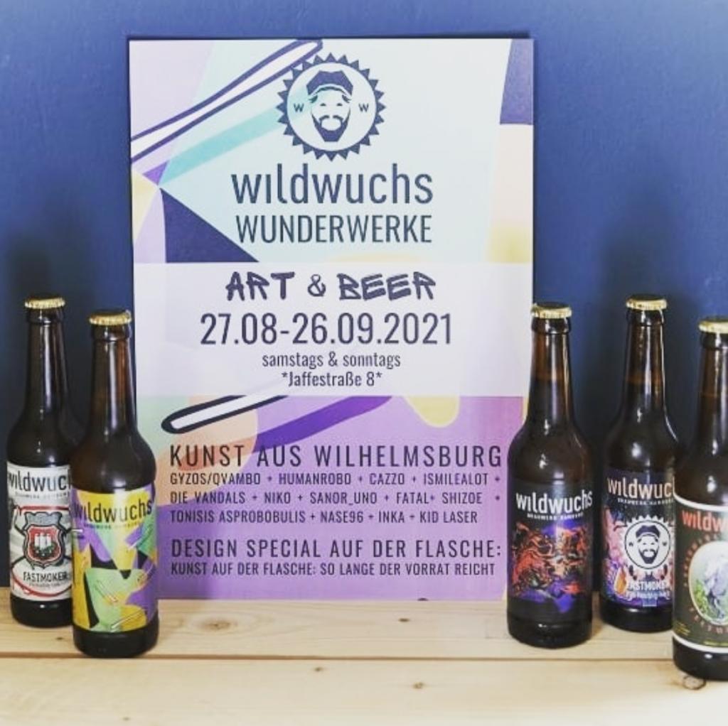 Wunder-kunstvoll wird es im Wildwuchs Brauwerk Hamburg!